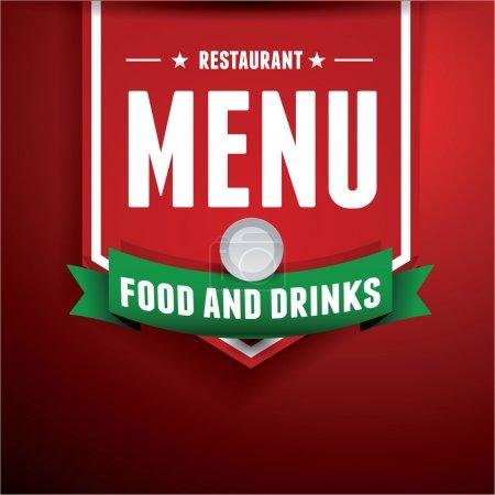 Illustration pour Vector. conception de menus de restaurant - image libre de droit