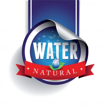 Drinking and Water Label vector