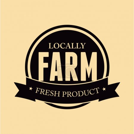 Farm food label, badge or seal...