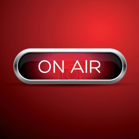 Illustration for On air red sign - Royalty Free Image