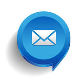 Email icon button vector