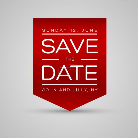 Illustration for Save the date template vector - Royalty Free Image