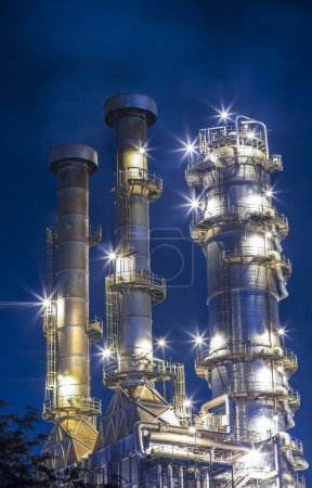 Photo for Oil refinery plant at twilight morning - Royalty Free Image