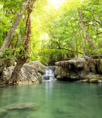Erawan Waterfall, deep forest Waterfall in Kanchanabur