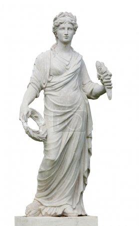 Photo pour Statue de la Grèce et de Rome femmes avec fond isolé - image libre de droit