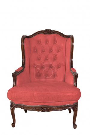 Ancient white leather armchair