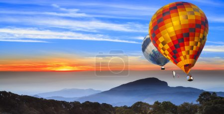 Photo for Landscape of sun rise at Doi Inthanon, chiangmai - Thailand, between sunset time. - Royalty Free Image