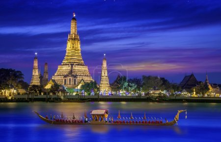 Photo for Wat arun under new year selebration time, Thailand - Royalty Free Image
