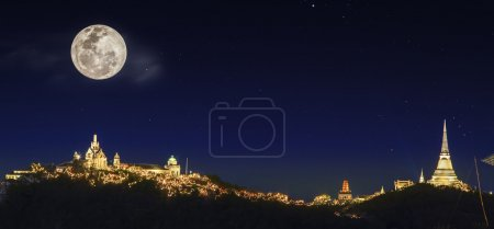 Photo for Landscape of phetchaburi province annual fastival fire work - Royalty Free Image