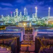 Landscape of oil refinary industry with oil storag...