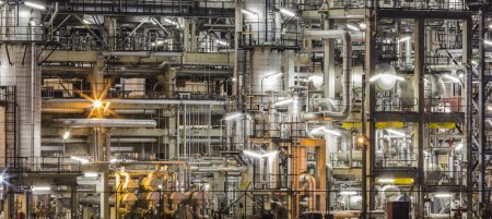 Photo for Oil refinery plant and pipe line - Royalty Free Image