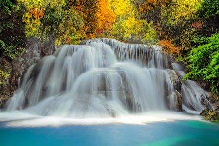 Photo pour Landscspe de la magnifique cascade de sunsise de morening et de la jungle. - image libre de droit