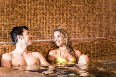 Young couple in a spa