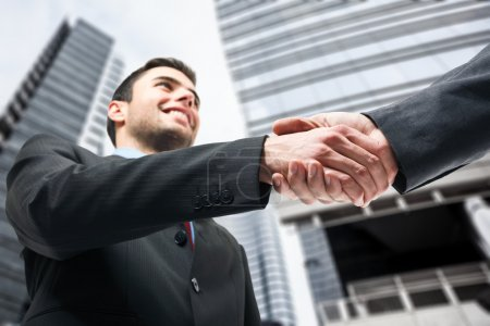 Photo for Business shaking hands - Royalty Free Image