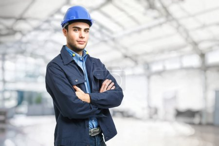 Photo for Portrait of an handsome engineer - Royalty Free Image