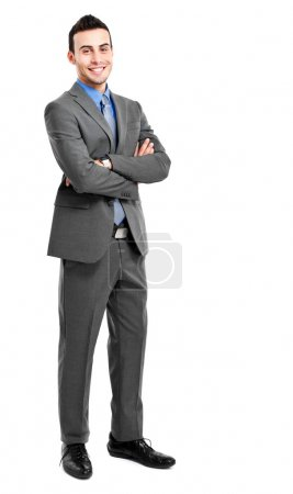 Photo for Full length portrait of a smiling businessman - Royalty Free Image