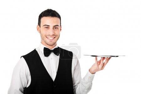 Photo for Portrait of a professional waiter - Royalty Free Image