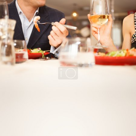 Photo for Couple having dinner in a restaurant - Royalty Free Image