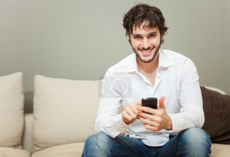 Man using his cell phone