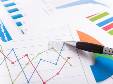 Photo for Close-up of a business report - Royalty Free Image