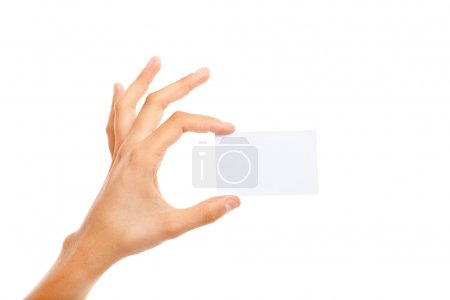 Photo for Hand holding a business card - Royalty Free Image