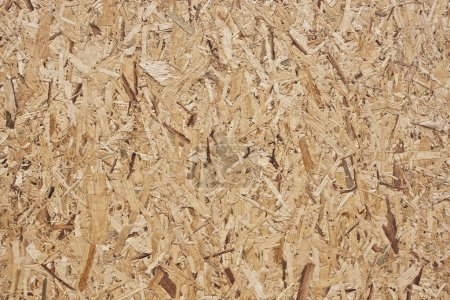 Yellow wood chipboard