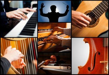 Photo pour Détail des instruments de musique classiques - image libre de droit