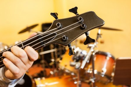 Electric bass detail