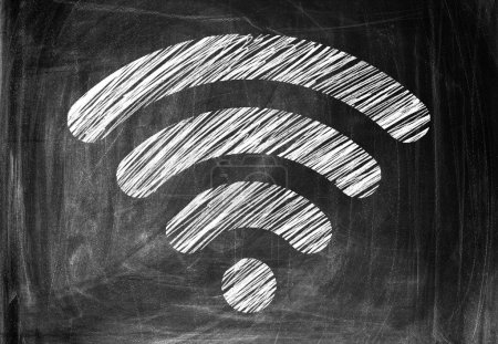 Wireless Symbol Drawn on a Blackboard...