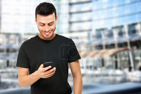Guy receiving a sms