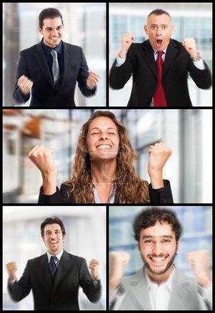 Foto de Conjunto de retratos de gente exitosa - Imagen libre de derechos