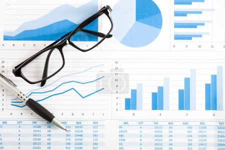 Business reports and charts