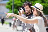 Tourists taking picture