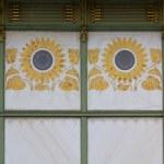 A floral art nouveau pattern on a public undergrou...