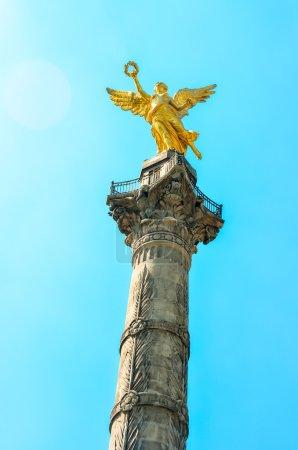 Photo pour El angel de la independencia ou monumento a l'independencia de Mexique - image libre de droit