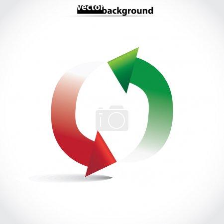 Arrows in circle symbol