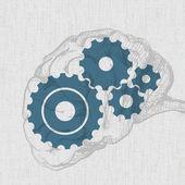 Mozek náčrt s čepy