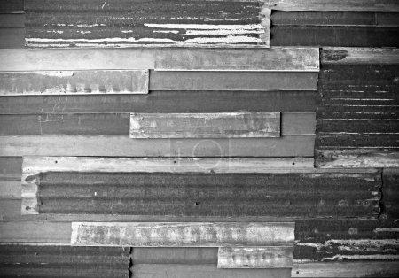 Photo pour Rusty texture de métal ondulé de fer - image libre de droit
