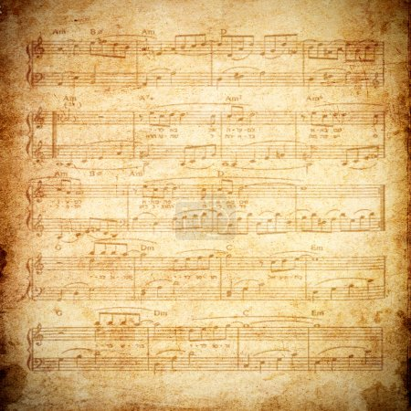 Photo pour Note de musique en papier grunge - image libre de droit