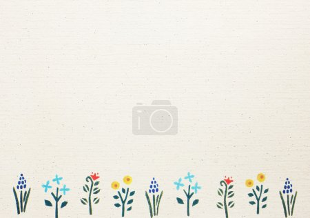 Photo for Vintage paper with flower border for greeting card - Royalty Free Image