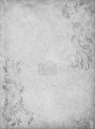 Photo for Old grunge paper background with vintage victorian style - Royalty Free Image