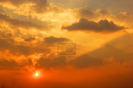 Photo for Dramatic sunset sunrise with clouds - Royalty Free Image
