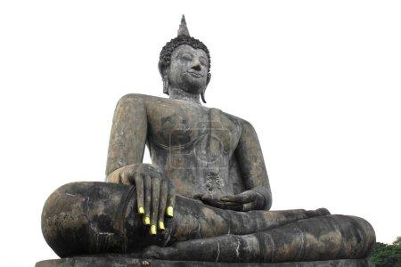 Photo pour Statue de Bouddha à Wat Mahathat Temple dans le parc historique de Sukhothai, province de Sukhothai, Thaïlande - image libre de droit