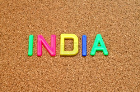 India in toy letters