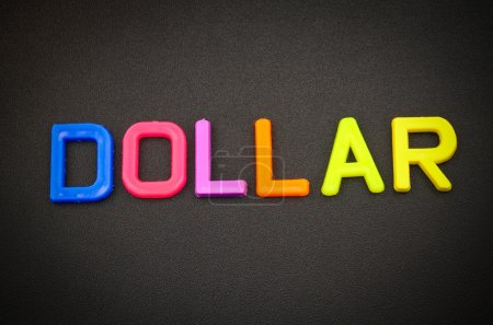 Dollar in toy letters