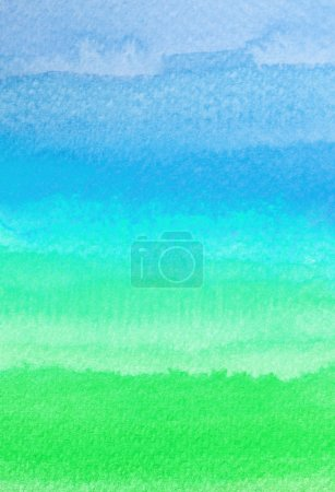 Photo for Colorful watercolor brush strokes for background - Royalty Free Image