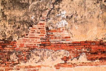 Photo pour Vieux mur de briques vintage - image libre de droit