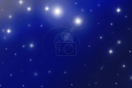 Photo pour Étoile brillante dans le ciel nocturne - image libre de droit