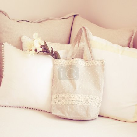 Tote bag and pillows