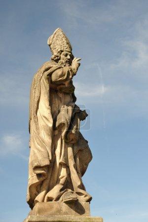 Saint Adalbert's statue on Charles bridge in Prague